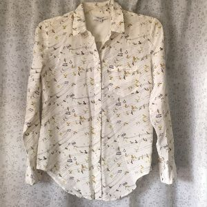 Madewell Bird on Wire Silk Blouse